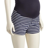 Old Navy Maternity Full Panel Striped Pixie Shorts 3 1/2""