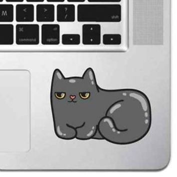 "Cute Grumpy Cat Sticker Vinyl Decal Skin MacBook Pro Air 13"" 15"" Apple Laptop"