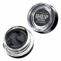 Maybelline Color Tattoo 24Hr Leather by EyeStudio Cream Gel Eyeshadow, Dramatic Black