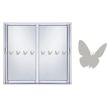 Etched Glass Vinyl Decals Sliding Door Safety Stickers Animal Butterfly