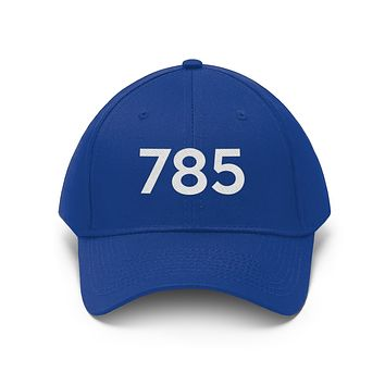 Kansas 785 Area Code Embroidered Twill Hat