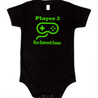 Video Game Controller PLAYER 3 New Baby Black Onesuit