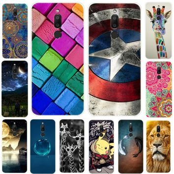 For Meizu M6T 6T Case Soft TPU Silicone Cover Cute Animal Flower Printed Phone Case For Meizu M6 T M6T 5.7 inch Clear Bumper