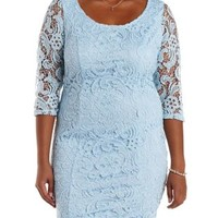 Plus Size Periwinkle Lace Bodycon Dress by Charlotte Russe