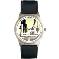 "Graphic Print ""Los Angeles"" Watch"