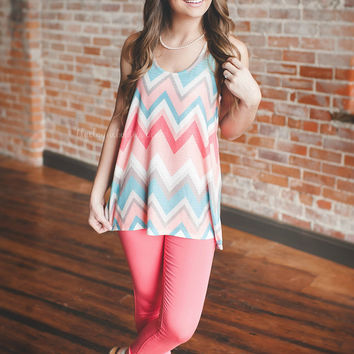 Just Chillin' Chevron Racerback Tank
