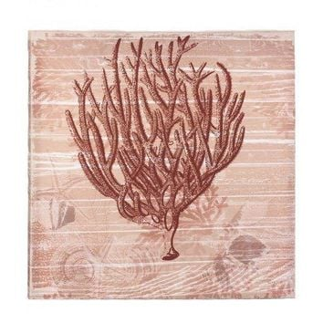 Seaside Coral Canvas Wall Art (pack of 1 EA)