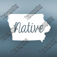 Iowa Home State Svg Dxf Pdf Jpg Cut File | Iowa pdf File | Love JPG Sticker | Svg Dxf Jpg Jpeg  PDF | Digital Download | Silhouette | 526