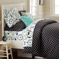 Dottie Duvet Cover + Sham, Black