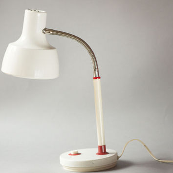 White and red shades desk lamp minimalist desk lamp Soviet working lamp home decor