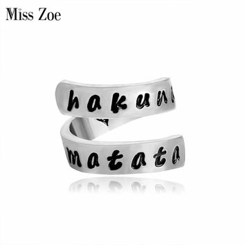 Miss Zoe Hakuna Matata Lion King Inspired Twist Ring Heart Inside Ring Simple Personality Women Jewelry anel anneau anillo
