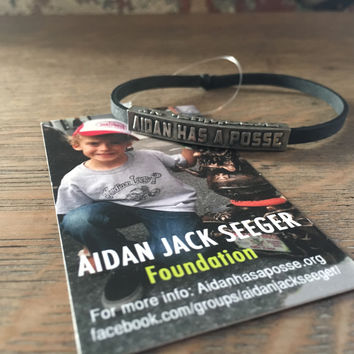 Aidan Has a Posse, AJS Foundation Bracelet