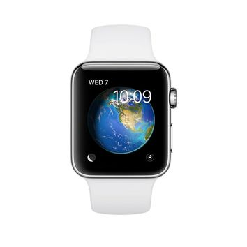 Apple Watch Series 2 38mm Stainless Steel Case White Sport Band (MNP42LL/A) NEW