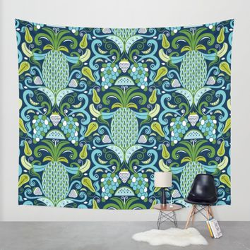 Ambrosia Blue Wall Tapestry by Heather Dutton