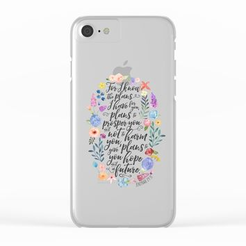 Hope and a Future - Jeremiah 29:11 Clear iPhone Case by Noonday Design