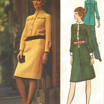 70s Emanuel Ungaro Vogue Sewing Pattern 2630 Womens A-Line Dress or Tunic and Pants Size 12 Bust 34 UnCut Vogue Paris Orignal Patterns