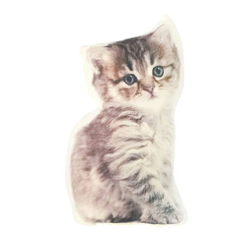 39*23cm brown Pet cat Print polyster/cotton Custom cushion home decor have inner  creative gift  pillow sofa decorative pillow