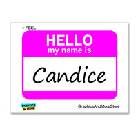 Candice Hello My Name Is Sticker