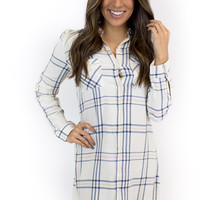 Ivory + Pink Plaid Tunic Dress - Jack by BB Dakota