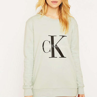 Calvin Klein Jeans Blue Sweatshirt - Urban Outfitters