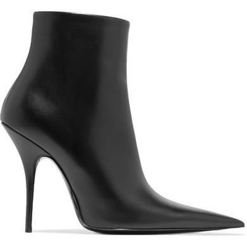 balenciaga leather ankle boots 2