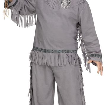 Wolf Warrior Costume, Native American Indian, Plus Size