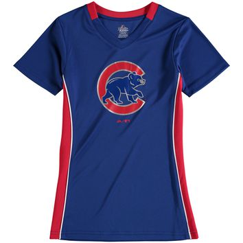 Youth Chicago Cubs Royal Majestic The Best Team V-Neck T-Shirt
