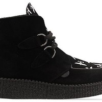 Underground X Boy London Ankle Boot in Black Suede Boy Print at Solestruck.com