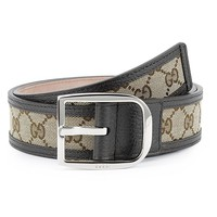 Gucci Original GG Canvas with Leather Belt, Brown/beige