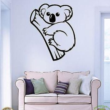Wall Stickers Vinyl Decal Animals Australia Koala Cute Decor Living Room Unique Gift (z1826)