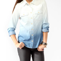 Ombré Denim Shirt