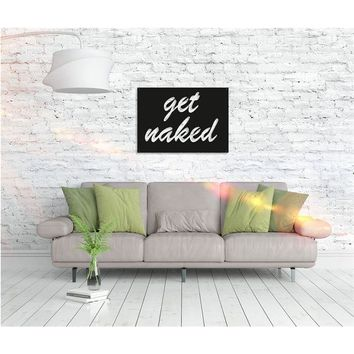 Get Naked Metal Art