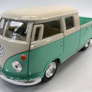 Volkswagen Bus 63 Double Cab 1:34 Scale KT.5387.DY Green