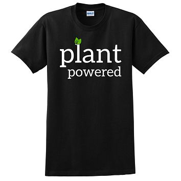 Plant powered, cute funny cool humor vegan, gifts for vegan, birthday holiday Christmas  T Shirt