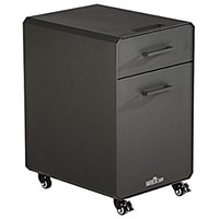 VARIDESK Storage Cabinet for Office Storage with Two Drawers, Charcoal-Grey