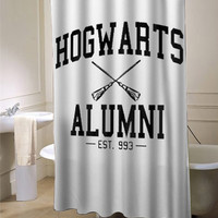 Hogwarts alumni harry potter expecto patronum deathly hallows custom shower curtain for bathroom ideas