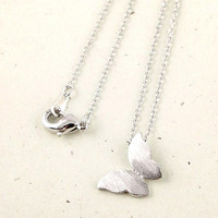 Butterfly necklace in gold or silver, simple, everyday, nautical necklace