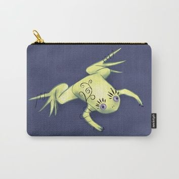 Funny Frog With Fancy Eyelashes Digital Art Carry-All Pouch by borianagiormova