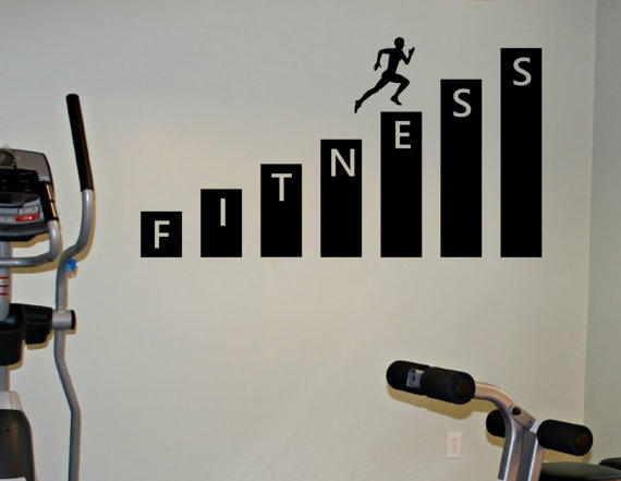 Fitness gym wall decal vinyl sticker art from