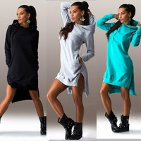 Women Winter Hoodies Cotton O-neck Long Sleeve Fashion Casual Style Autumn Sweatshirts