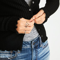 AEO Soft & Sexy Ribbed Cardigan, Gray
