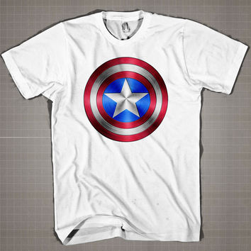 Captain America Logo  Mens and Women T-Shirt Available Color Black And White