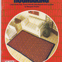 Rugmaking instruction booklet rug patterns for latch hook, rya, punch needle, needlepoint and crochet by Margaret Boyles Columbia Minerva
