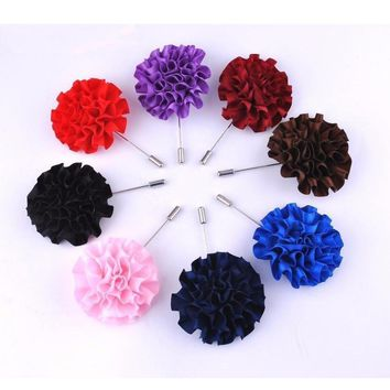 Men's Rose Collection Brooch Boutonnieres - 8 Colors