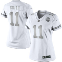 Alex Smith Kansas City Chiefs Nike Womens Platinum Jersey - White