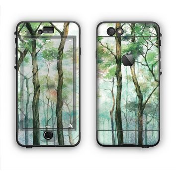 The Watercolor Glowing Sky Forrest Apple iPhone 6 Plus LifeProof Nuud Case Skin Set