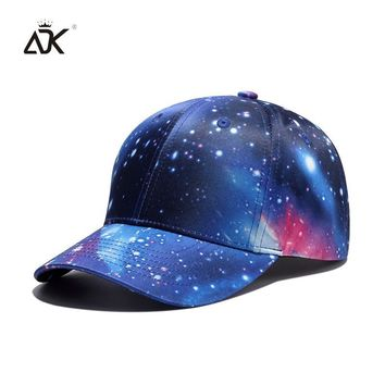 Trendy Winter Jacket ADK Galaxy Space Baseball Caps For Boys And Girls Sunshade Hat 2018 Fashion Hip Hop Snapback Male Good Quality AT_92_12