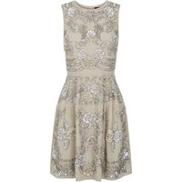 Needle & Thread Floral Sequin Skater Dress