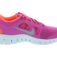 Nike Kids's NIKE FREE 5.0 (GS) RUNNING SHOES 5 Kids US (FSN PINK/MTLLC SLVR/TTL CRMSN)