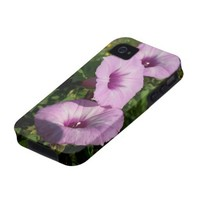 Three Pink Morning Glories Case For The iPhone 4